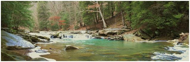 Buttermilk Falls along the Cowanshannock Trail near Kittanning, Armstrong County, Pennsylvania