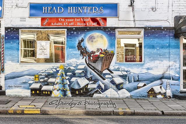 Head Hunters Xmas Mural 2014