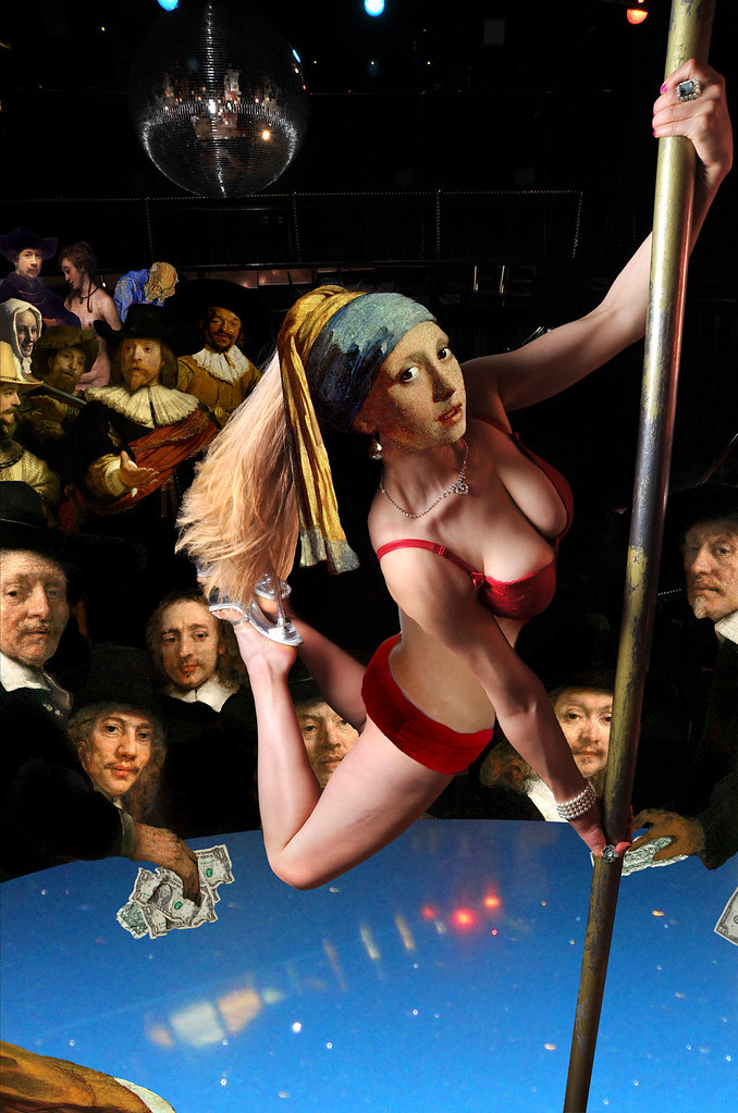 """""""Girl with Pearl Earring and Pole"""""""