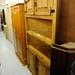 Tall waxed pine corner unit