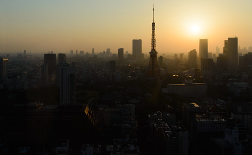sunset tower japan landscape tokyo evening cityscape metropolitan