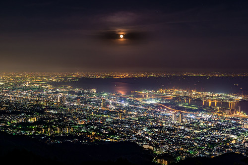 神戸市 兵庫県 日本 jp 20160523ds32507 2016 crazyshin nikond4s afsnikkor2470mmf28ged spring may nightview kobe moon 掬星台 26654993753 201606gettyuploadesp
