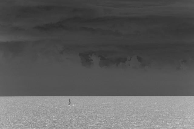 Lone sail on Ontario