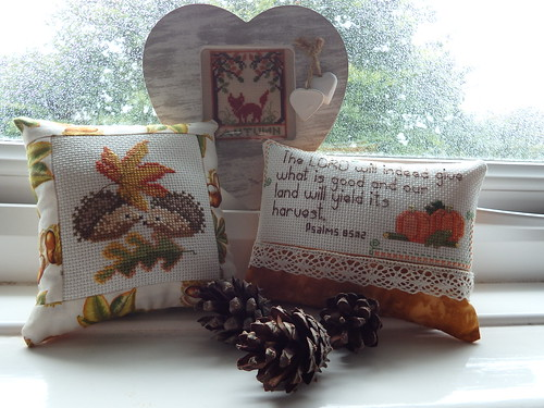 Autumnal Stitchery Trio