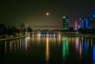 Main-Bridge in Frankfurt at Night | by x1klima