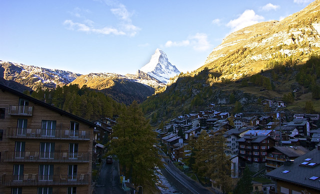 Sunny Matterhorn peak