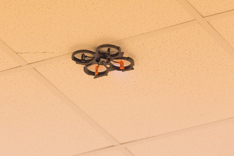 Phil's Quadcopter stuck to the ceiling!