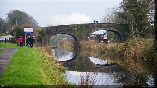 bridge ireland reflection train canal photographers rail maynooth kildare steamloco rpsi no461