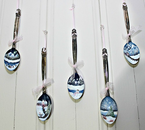 Painted Spoon Ornaments | by YourCastlesDecor