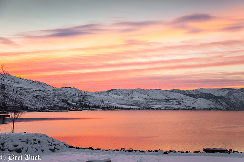 lakechelan winterfest winter sunset reflection landscape scenic 2013 january canon 5d mkii washington