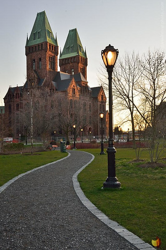 morning light ny newyork building lamp vertical architecture sunrise hotel insane buffalo state path henry historical asylum olmsted richardson