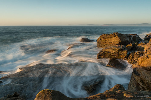 longexposure seascape water sunrise rocks pacificocean coastal shore nsw newsouthwales centralcoast puttybeach nd6 2014 bouddinationalpark sonynex6 spanreunion