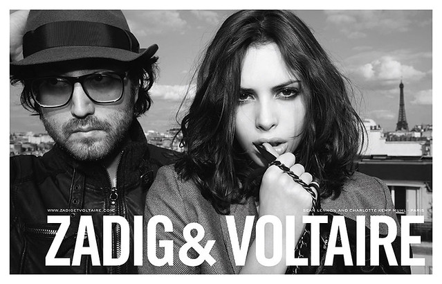 Zadig & Voltaire Fall Winter 2009 Campaign featuring Sean Lennon and Charlotte Kemp Muhl 230x295