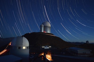 Star Trails over the 3.6m at La Silla, Chile | by HughO2