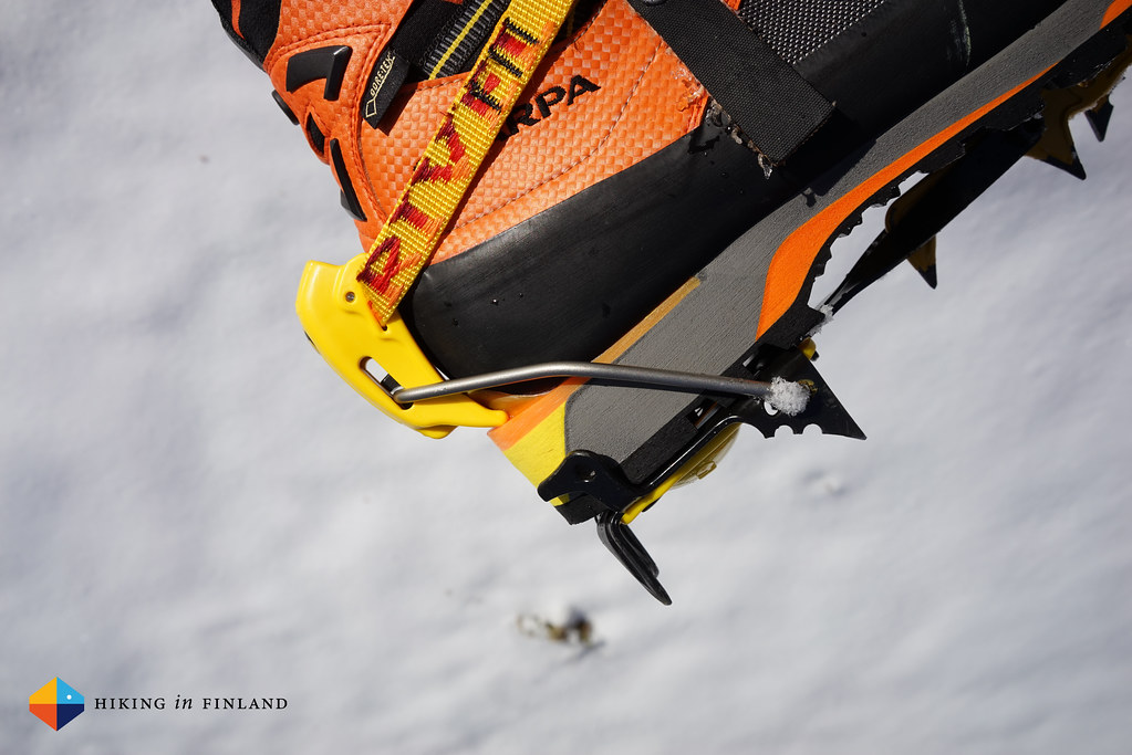 new york 85c71 4b855 Scarpa Rebel Ultra GTX with Grivel G20 Crampons attached ...