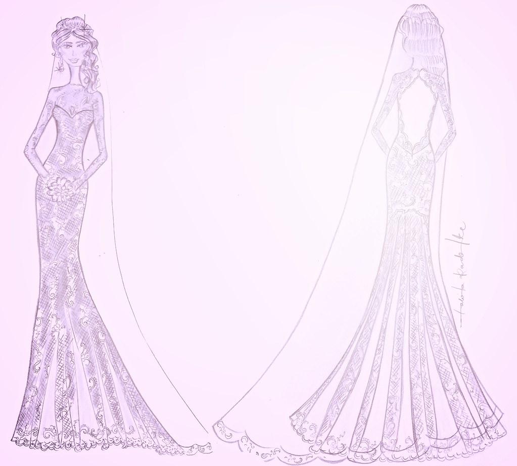 Nueva 1 Vestido De Noiva Desenho De Talita Radtke Flickr