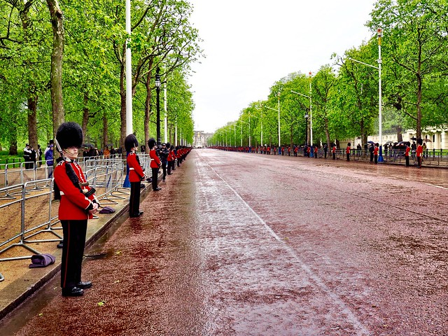 The Foot Guards regiments awaiting the Procession of Her Majesty The Queen