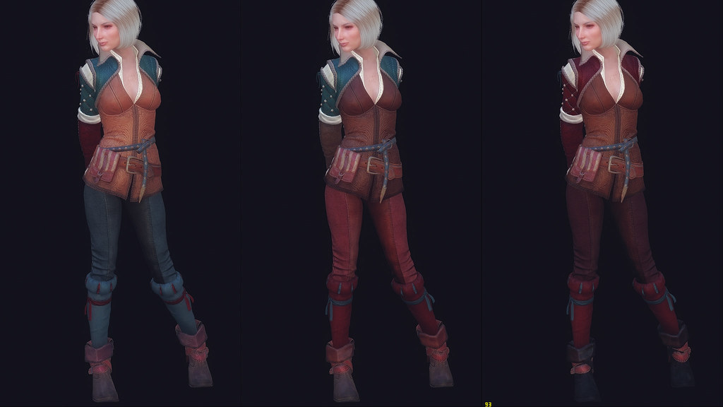 Triss and Yennefer outfit retextures | I just uploaded the f