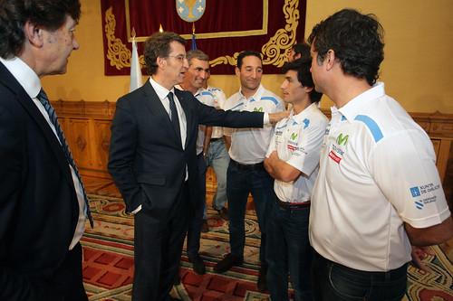 Recepción del Presidente de la Xunta al Equipo Movistar | by Infosailing
