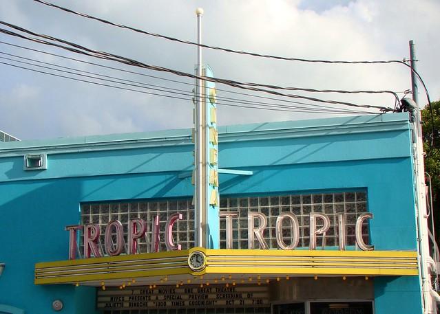 FL, Key West-Tropic Cinema Neon Sign