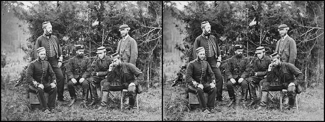 English officers, Camp Winfield Scott 1862 - 3d cross-view