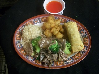 C8 Beef with Broccoli and Sweet & Sour Pork | by Golden Gate Chinese Restaurant