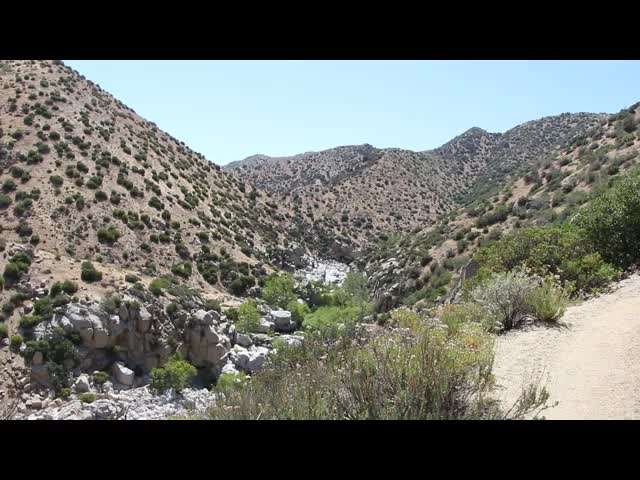 1334 Panorama video near PCT mile 310 across Deep Creek