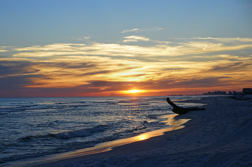 sunset beach clouds reflections waves gulf florida driftwood destin gulfofnewmexico