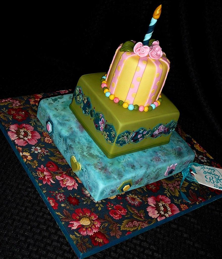 Floral Batik Birthday Cake Doctor LLC