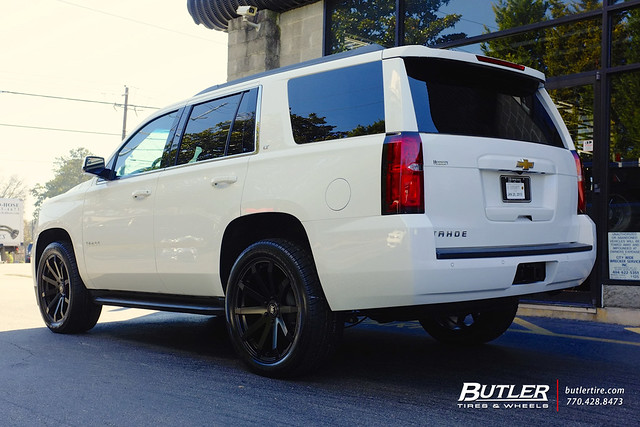 Chevy Tahoe with 22in Black Rhino Traverse Wheels
