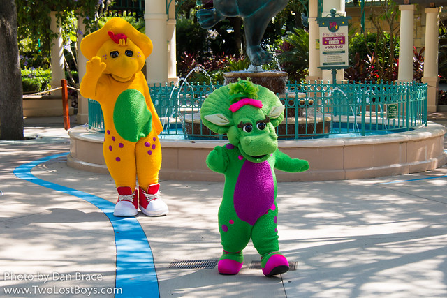 Meeting Barney, BJ and Baby Bop