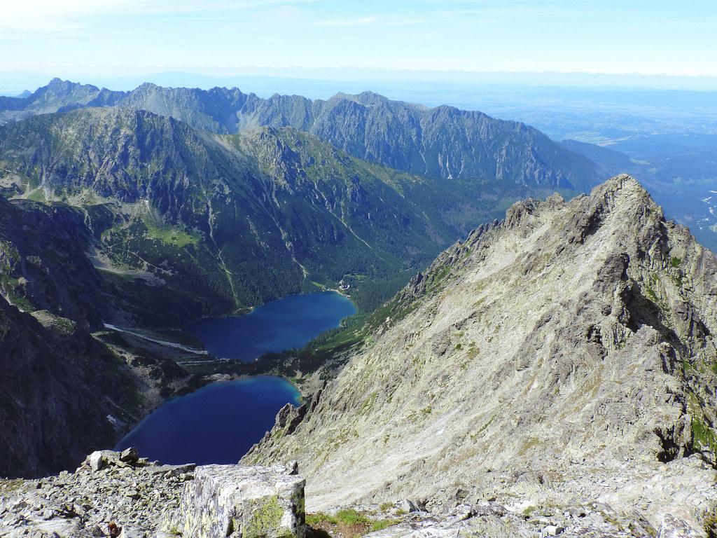View from Rysy peak, High Tatras, Slovakia