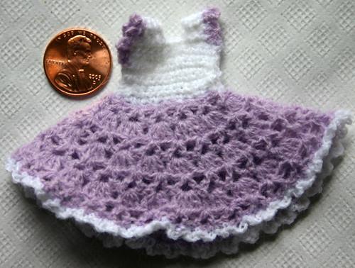 Miniature Crochet Sundress This Dress Is Made From A Patte Flickr
