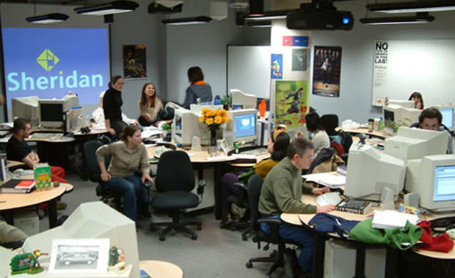 ... Older Shot of Our Classroom - Pre Flat Screen - Sheridan Interactive Multimedia One Year Post