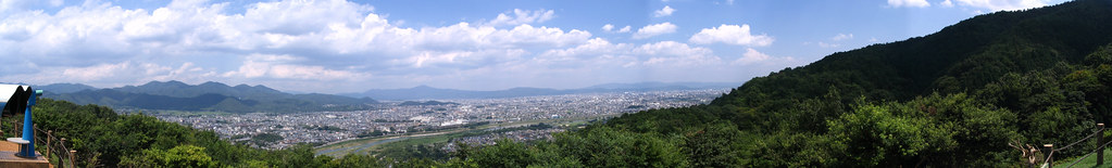 view of kyoto from monkey mountain
