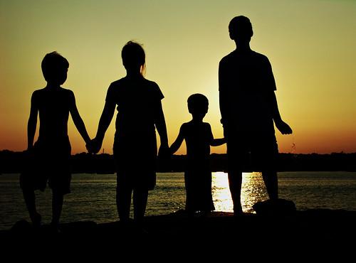 ocean sunset beach silhouette emerson oliver harrison jetty avery