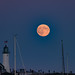 Scituate Light and its Lunar Friend by AJR / Anthony