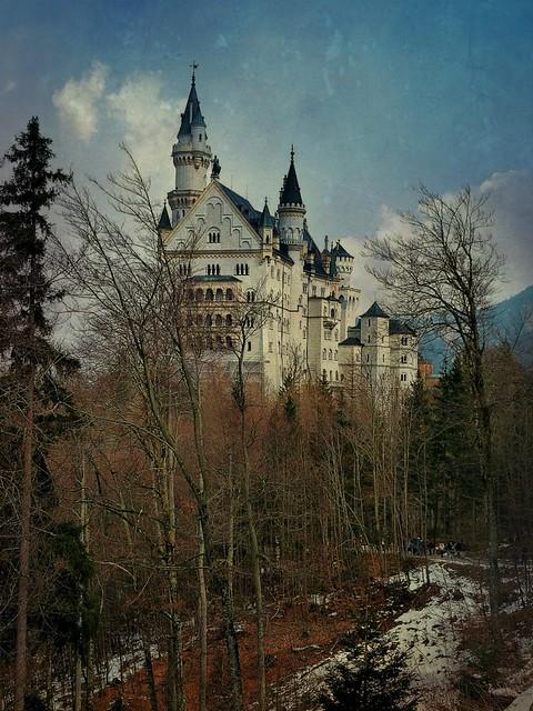 Bayern, Füssen, Schloss Neuschwanstein im Winter, 74416/5684