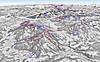 Mapa Skiwelt Wilder Kaiser