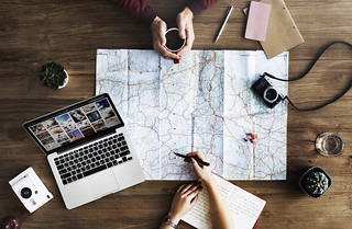 Travel Trip Map Direction Exploration Planning Concept | by Rawpixel Ltd