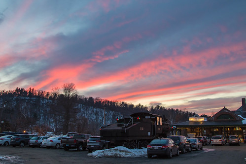 outdoor sunset unitedstates palmer ma sky locomotive steamingtenderrestaurant massachusetts