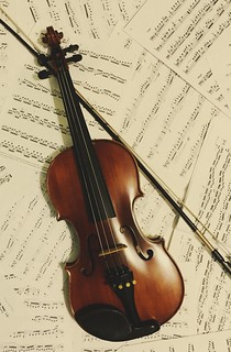 Violin on sheet music | by kiera.chan