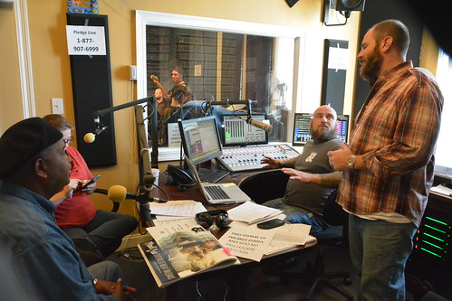 Action Jackson, Crystal Gross, Murf Reeves and Scott Borne on air. Photo By Kichea S Burt.