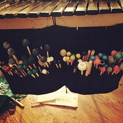 Dress rehearsal #morecowbell #TerraNostra #percussiongalore