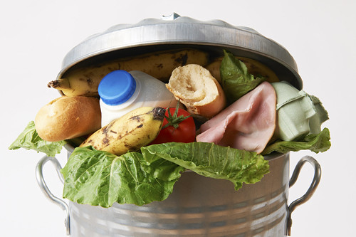 Fresh Food In Garbage Can To Illustrate Waste | by USDAgov