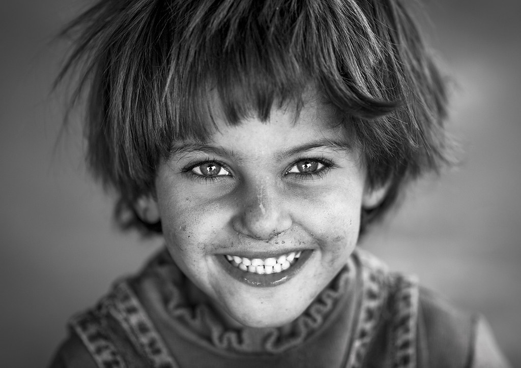 Yazidi Refugee Girl From Sinjar, Duhok, Kurdistan, Iraq