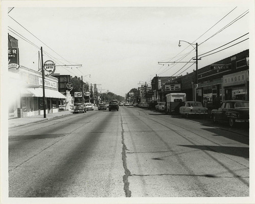 Shopping on Summer Avenue looking east toward Highland Ave, Memphis TN - Circa 1958 | by uofmtiger52