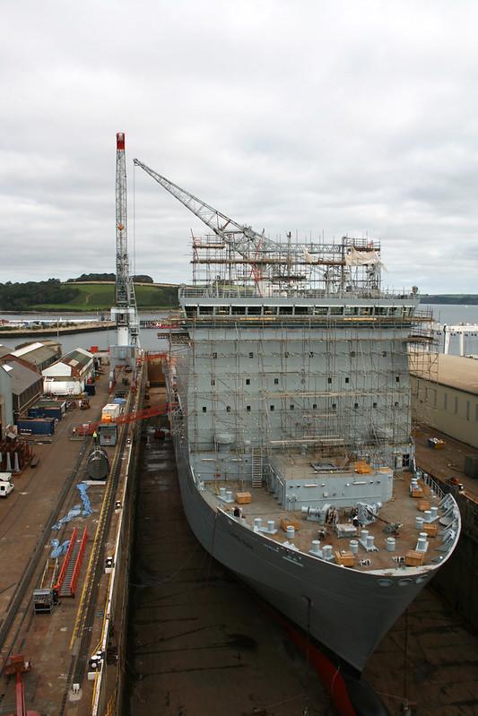 Ship under construction at Falmouth