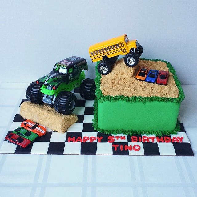 Pleasant Monster Truck Birthday Cake Homemade Monstertrucks Cars Flickr Personalised Birthday Cards Veneteletsinfo