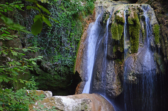 Magical place in the river Urederra. Lugar magico en el nacedero del rio Urederra